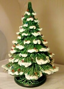 Vintage Light Up 1982 Ceramic Mold  Christmas Tree Big