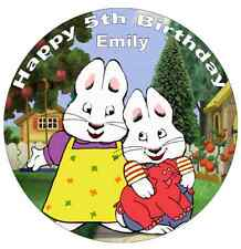"""Max and Ruby Personalised Cake Topper 7.5"""" Edible Wafer Paper Birthday Party"""
