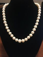 Akoya Cultured White Pearl 9-10mm Necklace 17""
