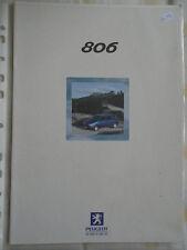 Peugeot 806 range brochure Jul 2000