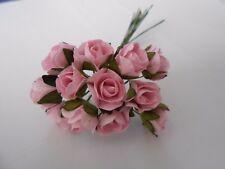 Confezione da 12 ROSE ROSA Mulberry Paper Abbellimento per Carte/Craft