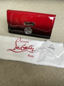 Christian Louboutin Riviera Clutch Patent Degrade Red Black Ombre