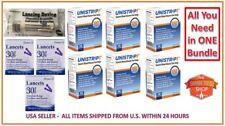 300 UNISTRIP TEST STRIPS EXP 05/2019 bundle w Lancets + lancing device FREE S&H