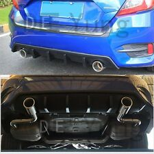 JDM RS Turbo Sport Tail Rear Bumper Diffuser Lip for 2016 17 Honda Civic Sedan