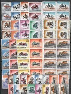 DEALER STOCK SAN MARINO MNH 1962 Automobiles cars 15v 10 SETS s32701