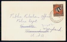 Mayfairstamps Australia 1966 to Public Relations Police Humbug Fish Cover wwh_88