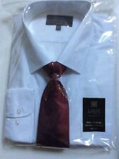 BN M&S Collection Long Sleeve Shirt With Tie Size 16.5