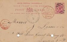Used Postal History Gold Coast Stamps