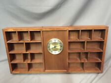 Solid Wood Knick Knack Display Shelf Wall Mountable Vintage Shot Glass Curio