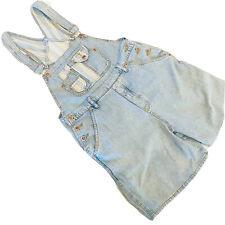Vintage 90's Women's Shorts Overalls Light Wash High Waist