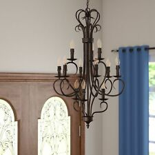 GOLDEN LIGHTING THREE POSTS CASTINE 12-LIGHT CANDLE STYLE CHANDELIER *NNB*