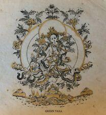 Bouddhisme Hindouisme Green Tara estampage rehaussé XXe Buddhism Hinduism