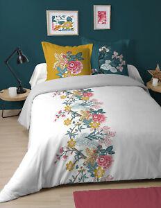 Coton LOVELY CASA WOODLOVE Housse DE Couette Gris 240x220 cm