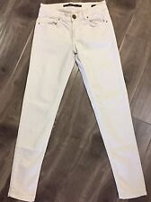 Zara Woman Premium Denimwear Collection Slim Fit Ivory Pants SZ 2 Waist 26""