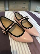 Dorothy Perkins Pink Black Wavy Retro Dolly Flat Strap Shoe Pointy Ballerina 8