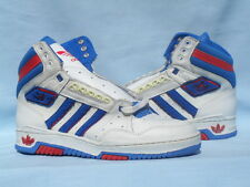 Vintage 1990 Adidas Varsity Hi Forum Stan Smith White/Red/Blue CLEAN Size 9.5
