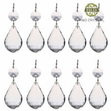 10X Clear Glass Crystal Chandelier Lighting Lamp Parts Prisms Pipa Pendants 38mm