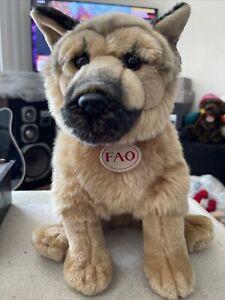"FAO Plush 13"" German Shepherd Dog Toys R Us 2015"