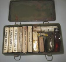 WW2 US ARMY JEEP EMERGENCY FIRST AID KIT MEDICAL DEPT. CONTENTS
