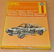 OPEL Ascona Manta 09/1975- 1977 Reparaturanleitung Haynes Repair Manual