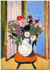 """Henri Matisse *FRAMED* CANVAS PRINT Daisies in Window Painting 24""""X16"""""""