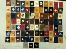 New listing 1910 Vintage Tobacco Leather C 00004000 Ollege Seals Assorted Colleges 86 Total