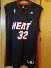137a9c72161 ADIDAS AUTHENTIC NBA MIAMI HEAT Shaquille O Neal   32 Jersey Large