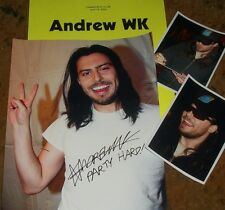ANDREW WK Autographed Photo & Photos - Real Hot