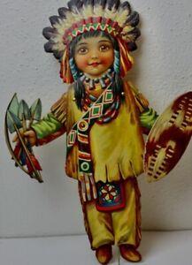 Hampelmann Ziehpuppe von Raphael Tuck Indianer um Jahrhundertwende indian Doll