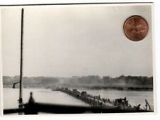 WW 2 Polen Polska Feldzug 1939  Schiff- oder Ponton- Brücke über die Weichsel