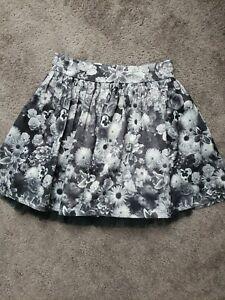 Olsenboye Black And White Floral Skirt Size 7