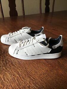 Men Adidas Superstar WS1 Deconstructed White/Black/Grey Trainer UK10 Hardly worn