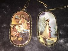"""The Bradford Exchange """"Heavenly Protector"""" & """"Lending A Hand"""" Angel Ornaments"""