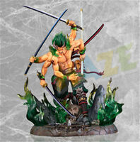 "Anime GK One Piece Roronoa Zoro Onigumo Action 12"" Figure Statue Toy in Box Gift"