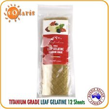 40g Leaf Gelatine Sheets Titanium Grade 150 Bloom Strength Made in Germany