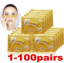 100 Pairs Wrinkle 24k Gold Collagen Under Aging  Eye Patch Anti Mask Crystal Gel