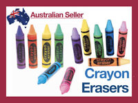 Soft Eraser Crayon Shaped Rubber Stationary Office Supplies Pencil No Smudge Pen
