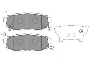 Disc Brake Pad Set-Premium Ceramic Pads Rear Dash 4 Brake CFD1124