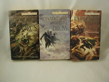 R A Salvatore Hunters Blade Series Forgotten Realms 1000 Orcs Lone Drow 2 Swords