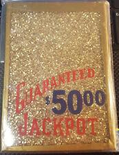 MILLS GUARANTEED $50.00 SMALL WINDOW JACKPOT GLASS FOR ANTIQUE SLOT MACHINE