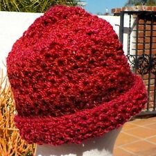 SHADES OF BURGUNDY WEAR IT 2 WAYS SLOUCH HAT HAND CROCHETED FREE SHIPPING