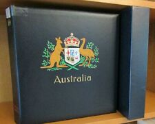More details for australia - fine hingeless davo album + slipcase - all pages 1966/1991 complete