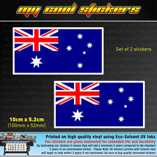 2 x 10cm Australian Flag Vinyl Sticker Decal car ute 4x4 window bumper Australia
