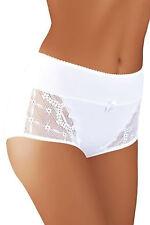 Underwear Midi Brief Ladies Lingerie Knickers Bridal 8-16 Design Bl003 White 14