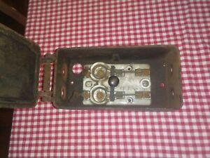 Antique Teco Cast Iron Fuse Box Porcelain & Copper T.E. & C. Co. Knife Switch