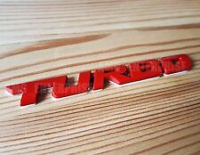 RED Metal Chrome 3D TURBO Emblem Badge Sticker for Fiat Grande Punto Bravo Stilo