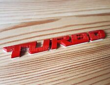 Red METAL CHROME 3d Turbo EMBLEM BADGE ADESIVO PER PEUGEOT 106 206 306 406 GTI