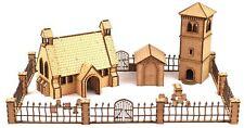 Church & Belfry con gated cementerio 28 Mm Conjunto De Mdf por wws – Warhammer Mesa