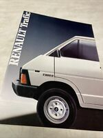Renault fourgon Trafic 1986 catalogue prospectus brochure dépliant automobile