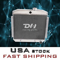 3 Row Aluminum Radiator For 1955-1957 1956 Chevy Bel Air 150 210 Del Ray 6CYL I6